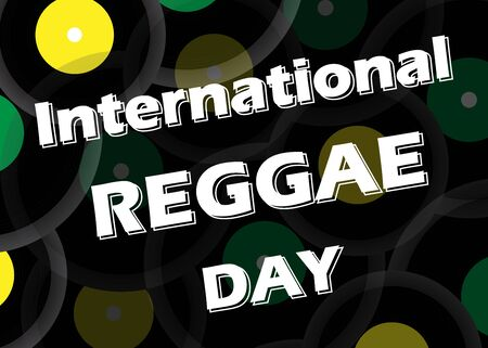 Vector banner for International Reggae Day, annually celebrated in July to emphasize the importance of this musical movement.