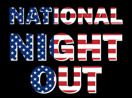 National Night Out is held in the USA every first Tuesday of August in order to raise public awareness about the work of police, fire, ambulance and other services. All elements are isolated. Archivio Fotografico - 150889384