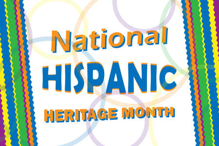 Hhispanic heritage Month is an annual traditional month about awareness of the importance of Latin American culture. Web banner and ethnic cultural background.