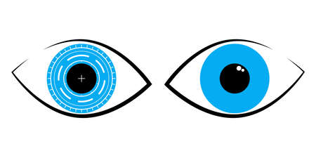 Vector logo for International Ophthalmology Day World Sight Day annually indicating the importance of ophthalmology in human health. All elements are isolated.