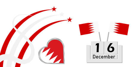 Bahrain Independence Day is an annual traditional holiday of the country's independence on a transparent background with a country symbol flag
