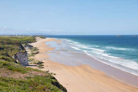 Beach at Portrush, in Northern Ireland. Imagens
