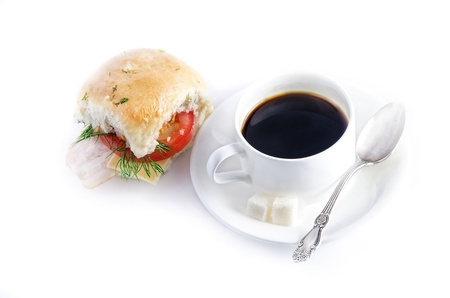Coffee and sandwich photo
