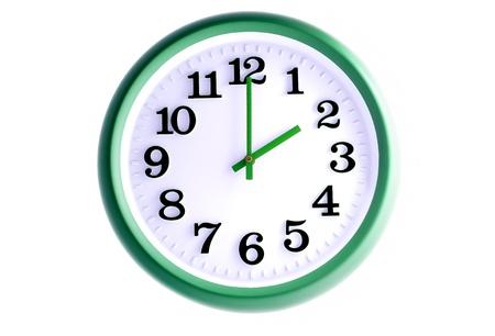 Isolated office wall clock  Stock Photo
