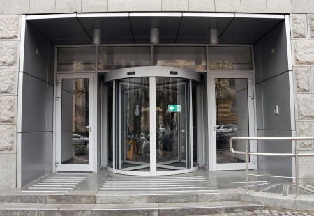 Revolving door in reception of office building Stock Photo - 22350162