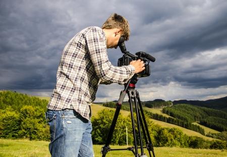 Videographer, removes the natural landscape