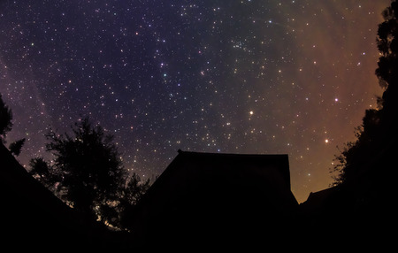 Starry Sky in the rural photo