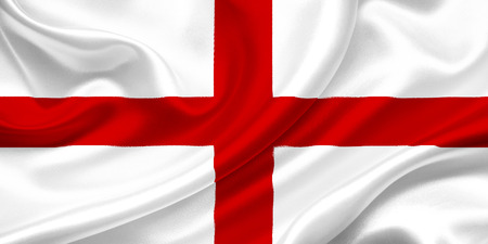 Flag of England on a silk cloth photo