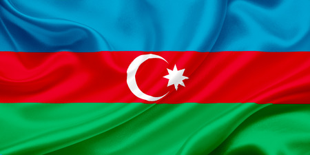 azerbaijanian: Azerbaijan Flag Waving In The Wind