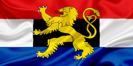 benelux: Flag of Benelux waving in the wind