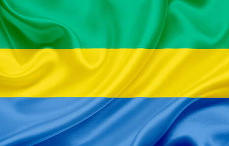 gabon: Flag of  Gabon waving in the wind