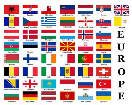 all european flags: List of all European country flags