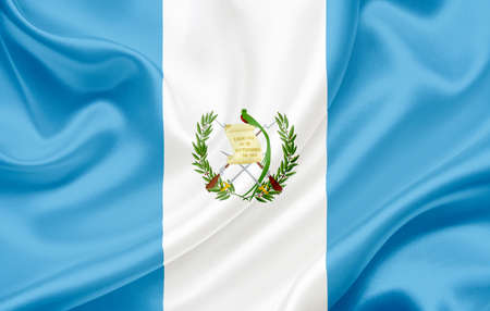 Flag of Guatemala waving in the wind photo