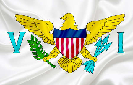 virgin islands: Flag of Virgin Islands (USA) waving in the wind