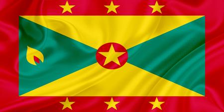 grenada: Flag of Grenada waving in the wind