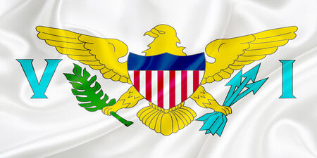 virgin islands: Flag of The Virgin Islands (USA) waving in the wind