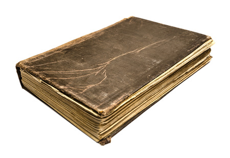 Old vintage book on white background