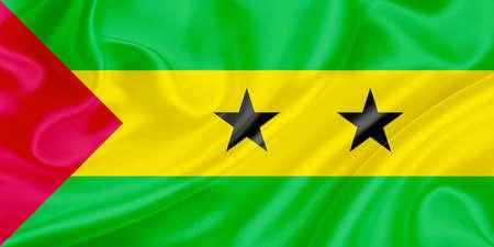 tomo: Bandiera di Sao Tome e Principe fluttuando nel vento