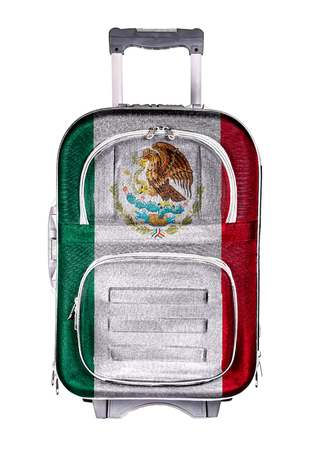 emigration immigration: The concept of emigration, immigration, relocation, travel. Mexico.
