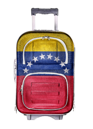 holdall: The concept of emigration, immigration, relocation, travel. Venezuela.
