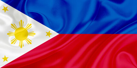 Flag of Philippines waving in the wind photo