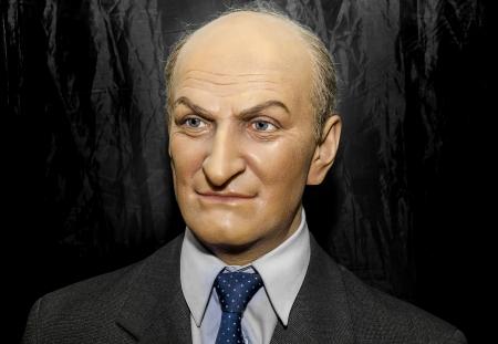 unveiling: January 25, 2014 - Uzhgorod  wax figure of Louis de Funes - Exhibition of Wax Museum Art, Uzhgorod