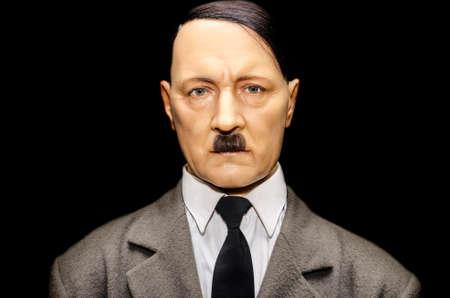 adolf hitler: UZHGOROD, UKRAINE - JAN 25, 2014: waxwork Adolf Hitler - Exhibition of Wax Museum Art, Uzhgorod.