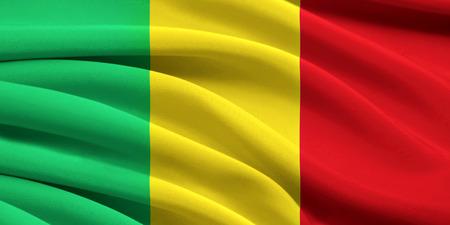 Flag of Mali waving in the wind photo