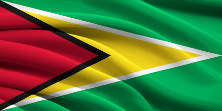 Flag of Guyana waving in the wind photo