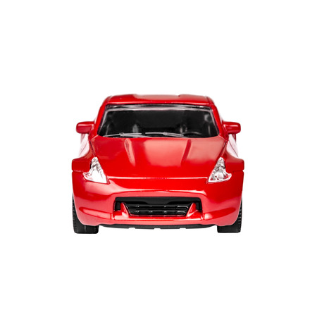 Red Toy Car isolated on a white background photo