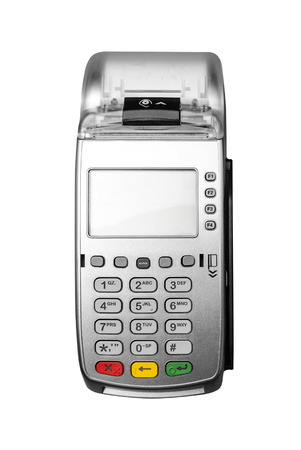 Bank terminal isolated on a white background Stock Photo - 27141723
