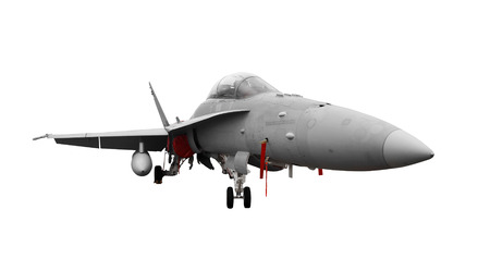 Fighter jet isolated on a white background                     photo