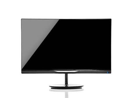 Display monitor isolated on a white background
