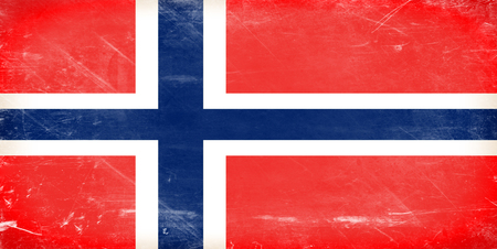 Norway flag. Shabby vintage flag in grunge style. photo