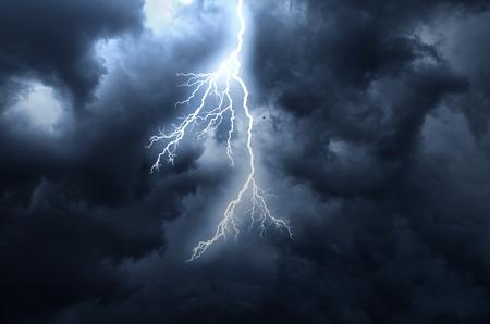 thunderhead: A lightning strike on the cloudy sky