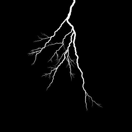 thunderhead: A lightning strike on the black background