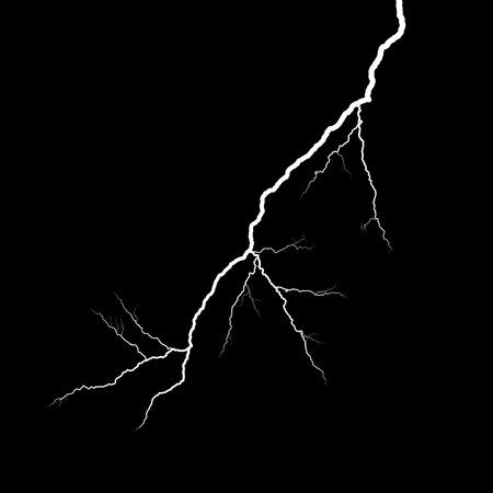 streak lightning: A lightning strike on the black background