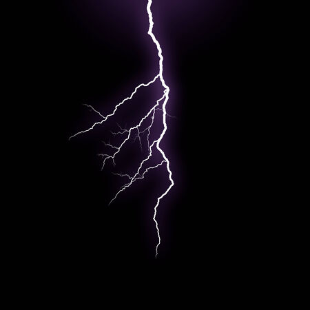 streak lightning: A lightning strike on the black background