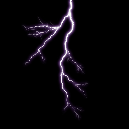 lightnings: A lightning strike on the black background