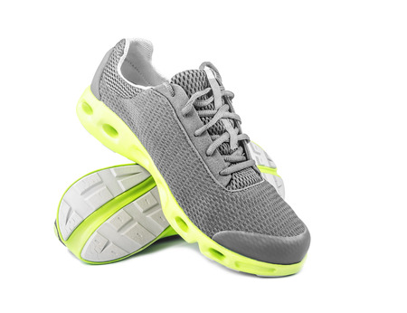 New unbranded running shoes, sneakers or trainers on white