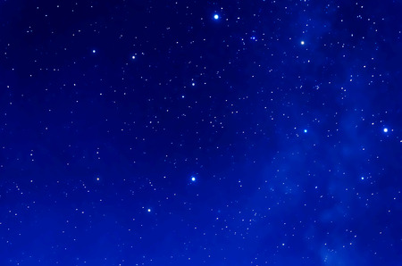 orion: Starry Sky. Deep space and stars image. Stock Photo