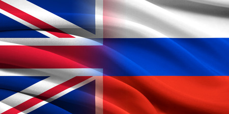 Great Britan and Russia. Relations between two countries. Conceptual image. photo
