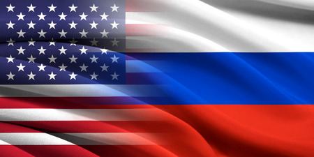 provocation: USA and Russia. Relations between two countries. Conceptual image.