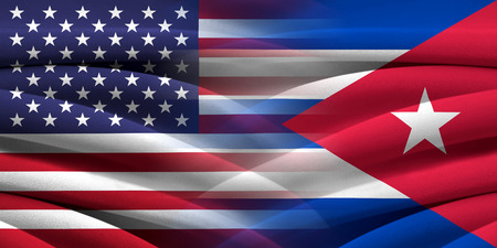 provocation: USA and Cuba. Relations between two countries. Conceptual image.