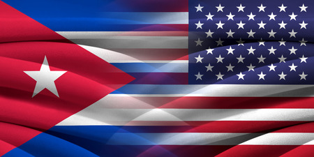 USA and Cuba. Relations between two countries. Conceptual image. photo