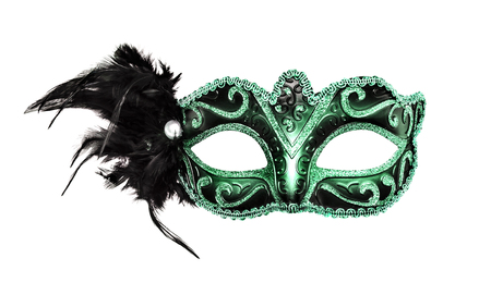 Karneval Maske auf einem weißen Hintergrund.