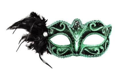 mascara de carnaval: Máscara de Carnaval aislado en un fondo blanco.