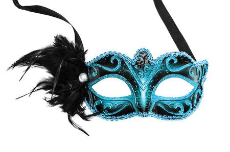 Maschera di Carnevale isolato su uno sfondo bianco.