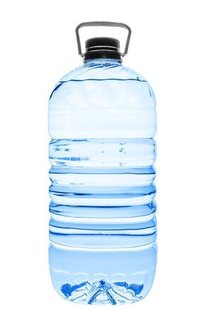 Big plastic water bottle isolated on white backgroud photo
