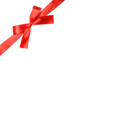 goodie: Red ribbon bow on a white background